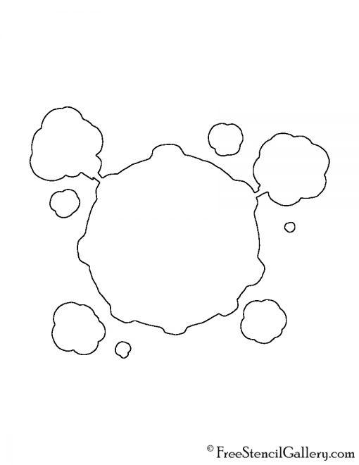 Pokemon - Koffing Silhouette Stencil