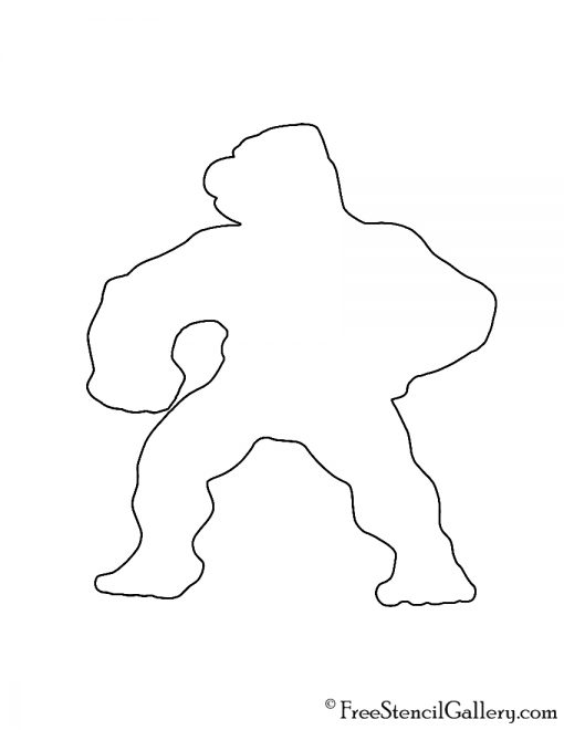 Pokemon - Machoke Silhouette Stencil