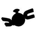 Pokemon - Magnemite Silhouette Stencil