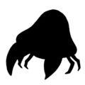 Pokemon - Parasect Silhouette Stencil