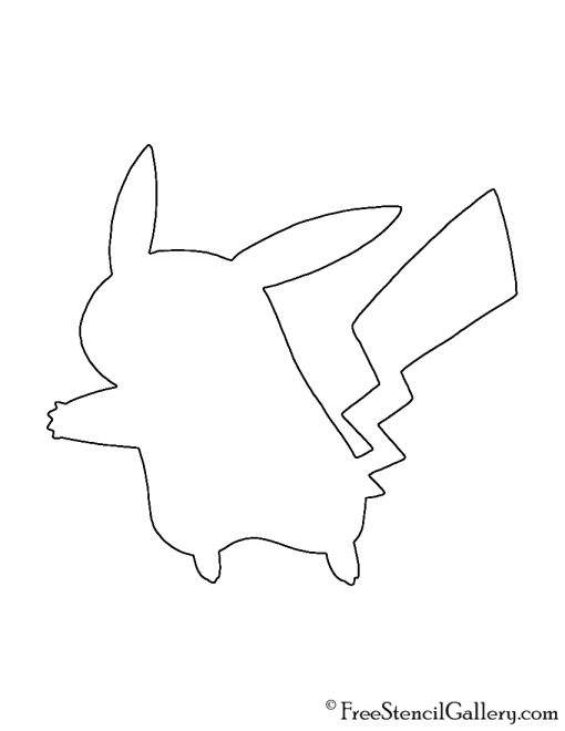 Pokemon - Pikachu Silhouette Stencil