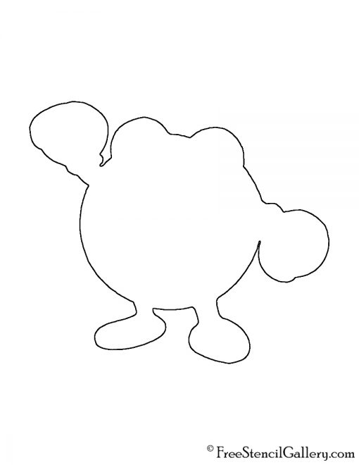 Pokemon - Poliwhirl Silhouette Stencil