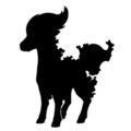 Pokemon - Ponyta Silhouette Stencil