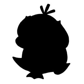 Pokemon Psyduck Silhouette Stencil Free Stencil Gallery