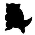 Pokemon - Sandshrew Silhouette Stencil