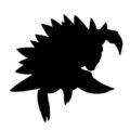 Pokemon - Sandslash Silhouette Stencil