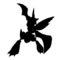 Pokemon - Scyther Silhouette Stencil