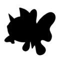 Pokemon - Seaking Silhouette Stencil