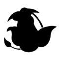 Pokemon - Victreebel Silhouette Stencil