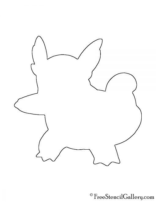 Pokemon - Wartortle Silhouette Stencil