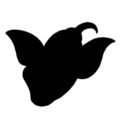 Pokemon - Weepinbell Silhouette Stencil