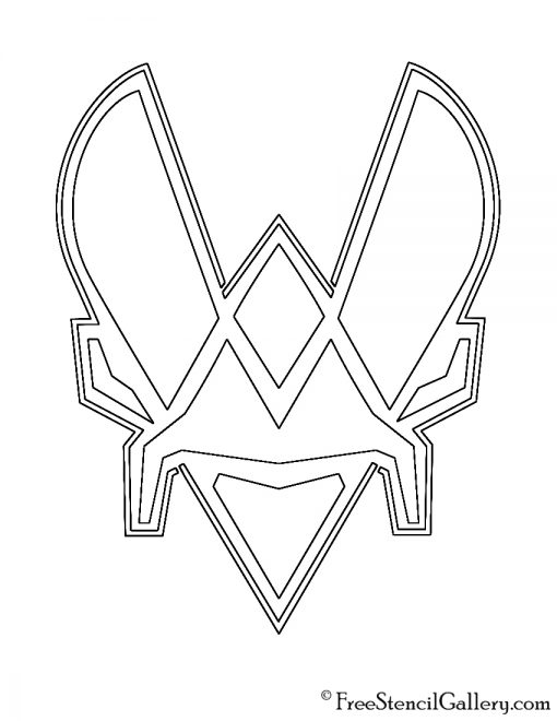 Team Vitality Logo Stencil