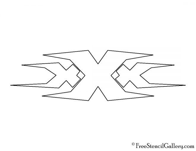 Triple X Logo Stencil