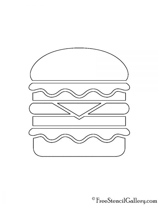 Hamburger Stencil