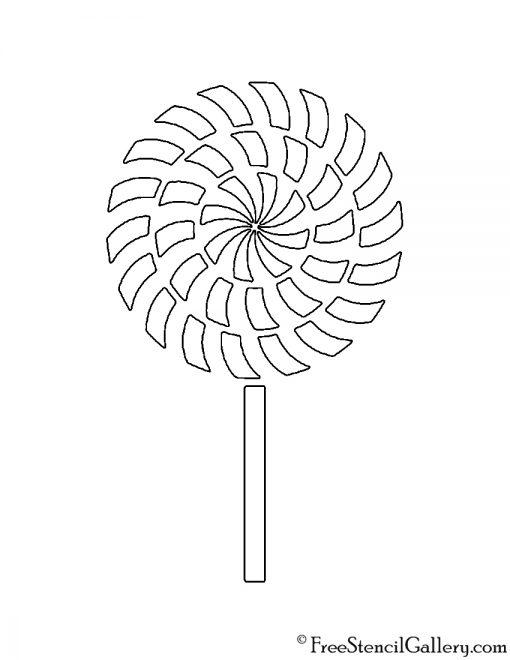 Lollipop Stencil