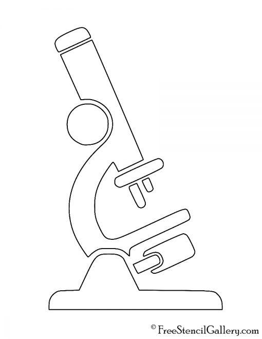Microscope 02 Stencil