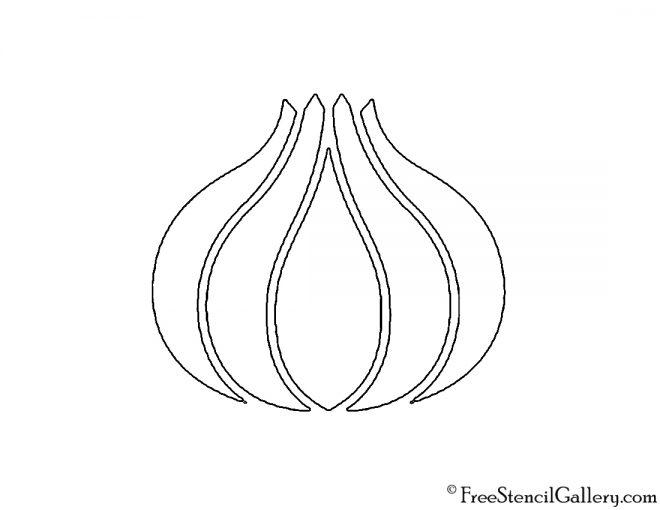 Onion Stencil