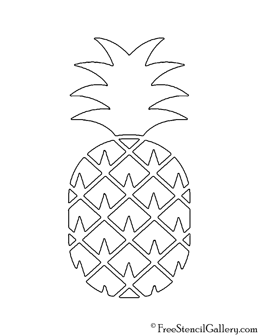 pineapple 02 stencil free stencil gallery