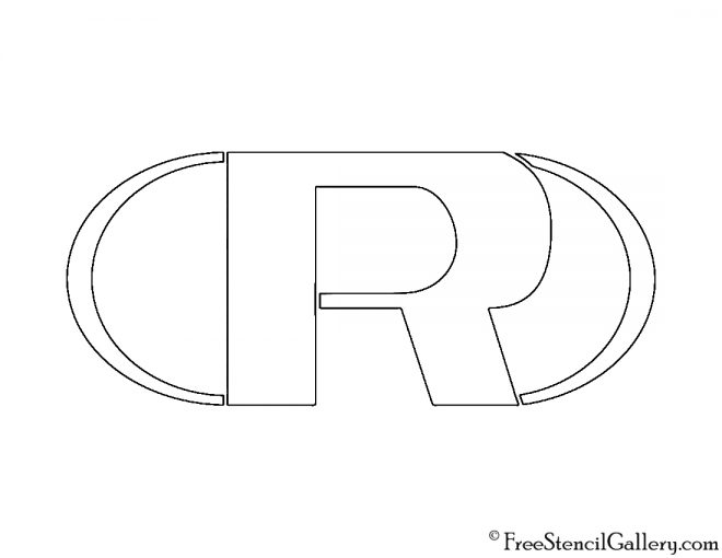 Rand Enterprises Logo Stencil