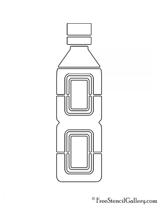 Water Bottle 01 Stencil