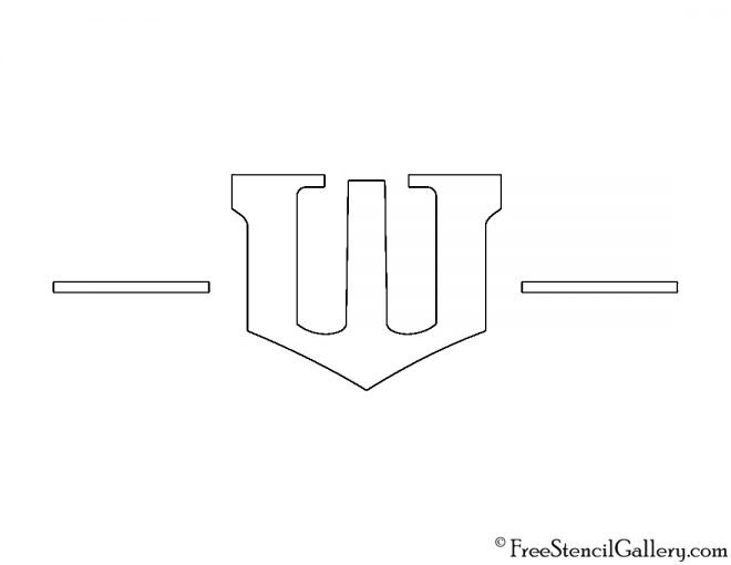 Wayne Enterprises Logo Stencil