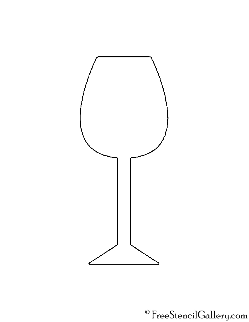 wine glass stencil free stencil gallery