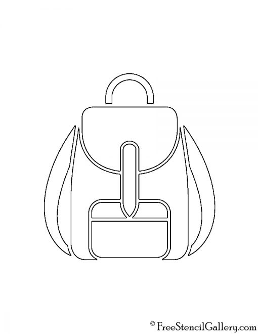 Backpack Stencil