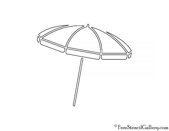Beach Umbrella Stencil