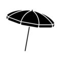 Beach Umbrella Stencil