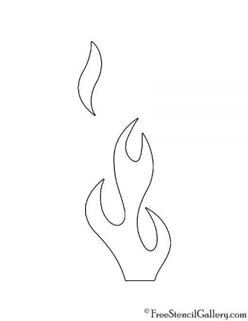 Flames 04 Stencil