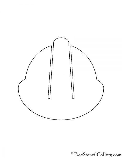 Hard Hat Stencil
