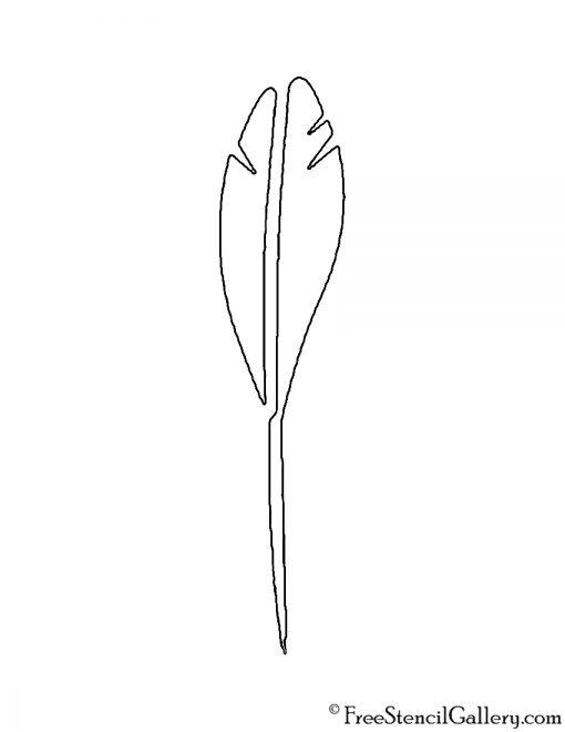 Quill Pen Stencil