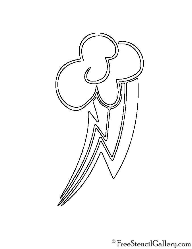 My Little Pony Coloring Pages Cutie Mark : Rainbow dash cutie mark coloring pages