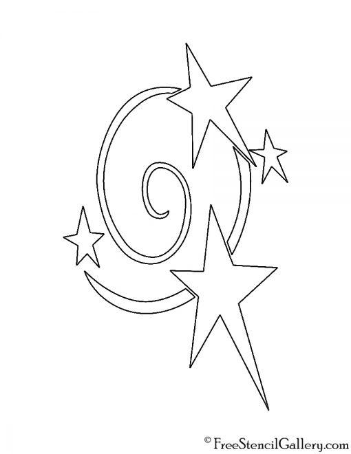 My Little Pony - Star Swirl Cutie Mark Stencil