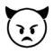 Emoji - Angry Devil Stencil
