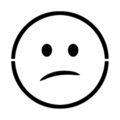 Emoji - Confused Stencil