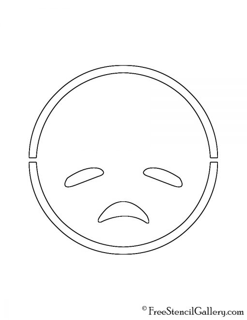 Emoji - Disappointed Stencil