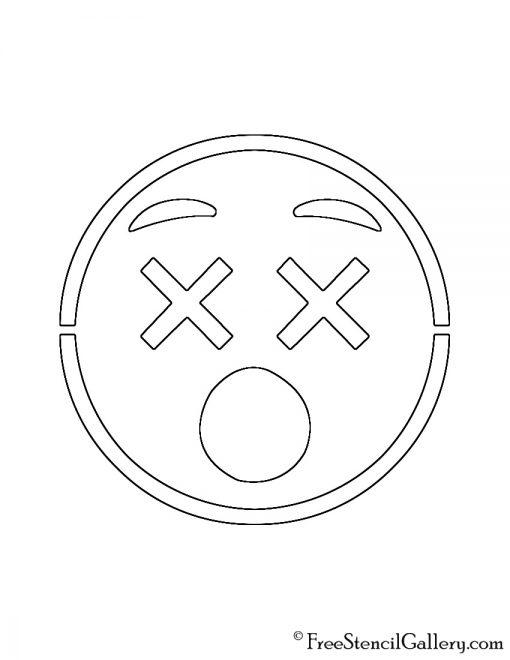 Emoji - Dizzy 02 Stencil