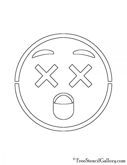 Emoji - Dizzy Stencil