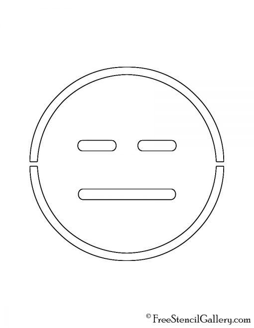 Emoji - Expressionless Stencil