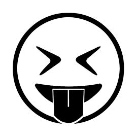 Emoji Eyes Closed Tongue Out Stencil Free Stencil Gallery