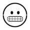 Emoji - Grimmacing Stencil