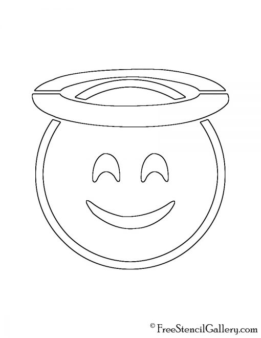 Emoji halo stencil free stencil gallery for Emoji pumpkin template