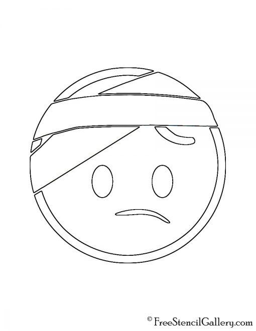 Emoji - Injured Head Stencil