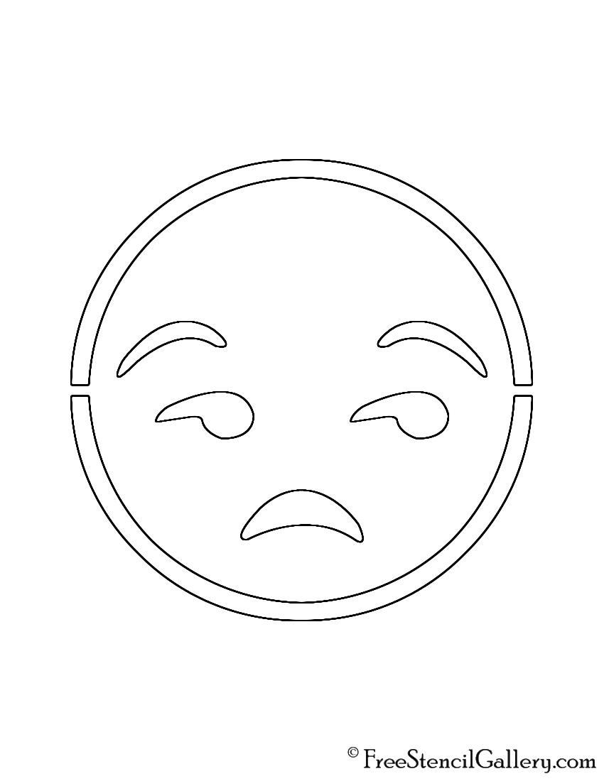 Emoji meh stencil free stencil gallery for Pumpkin stencils emoji