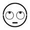 Emoji - Rolling Eyes Stencil
