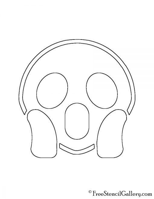Emoji - Screaming Stencil