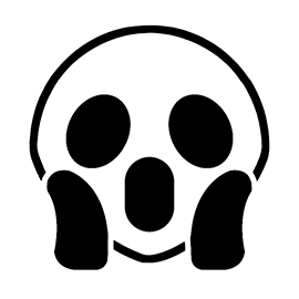 scream pumpkin template - emoji screaming stencil free stencil gallery