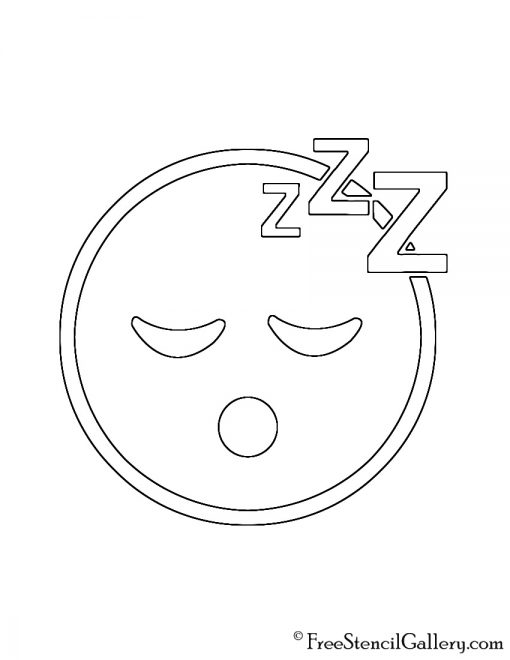 Emoji sleeping stencil free stencil gallery for Emoji pumpkin carving stencils