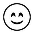 Emoji - Smiling Blushed Stencil